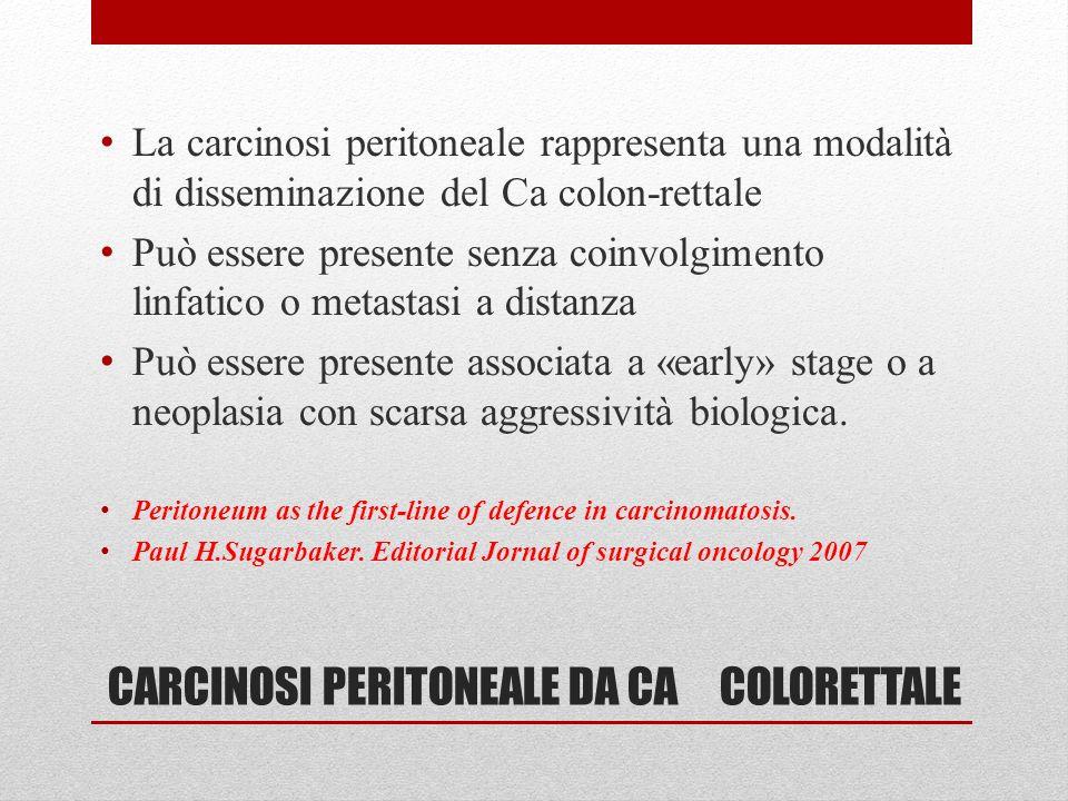 CARCINOSI PERITONEALE DA CA COLORETTALE