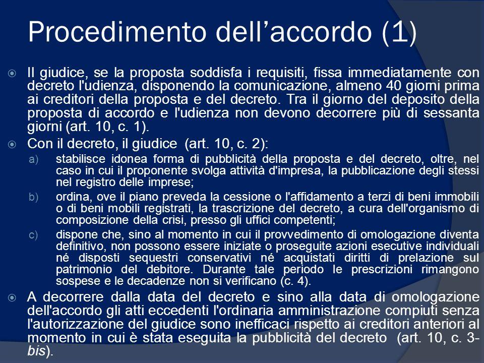 Procedimento dell'accordo (1)