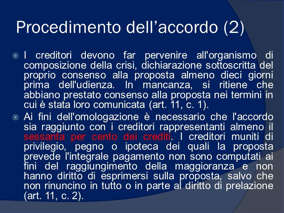 Procedimento dell'accordo (2)