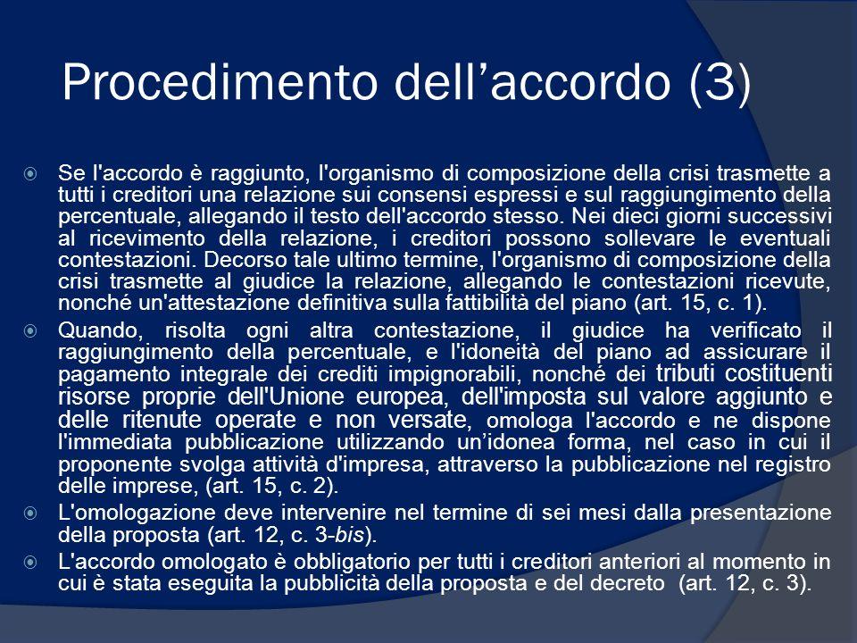 Procedimento dell'accordo (3)