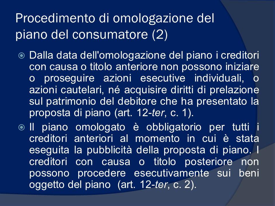 Procedimento di omologazione del piano del consumatore (2)