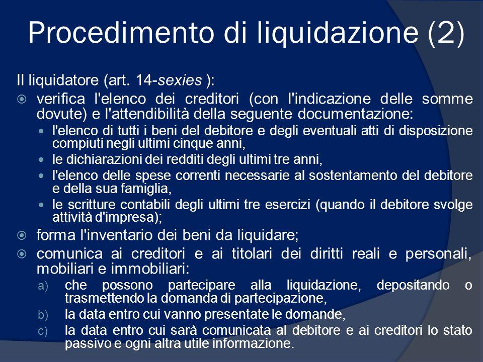 Procedimento di liquidazione (2)