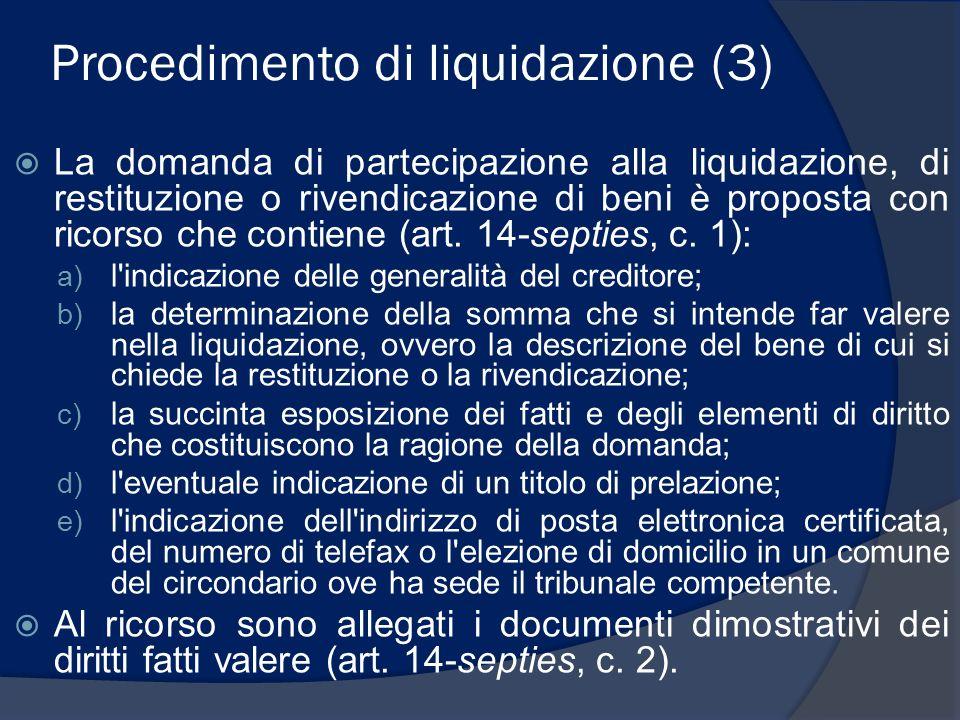 Procedimento di liquidazione (3)