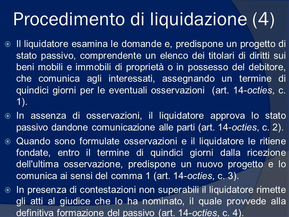 Procedimento di liquidazione (4)