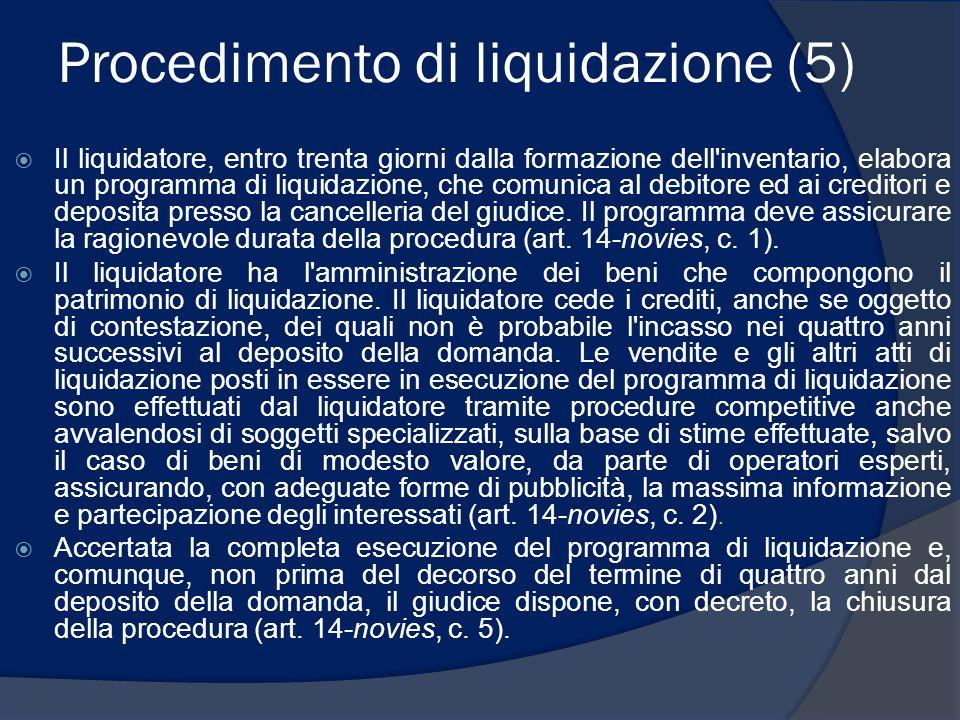 Procedimento di liquidazione (5)