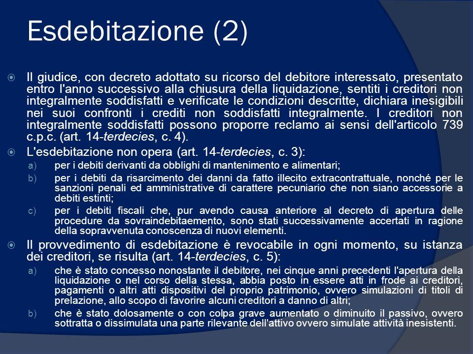 Esdebitazione (2)