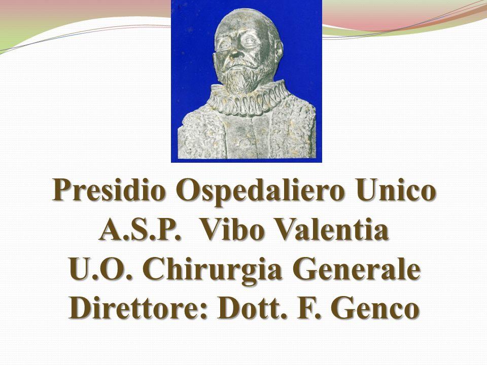 Presidio Ospedaliero Unico A. S. P. Vibo Valentia U. O