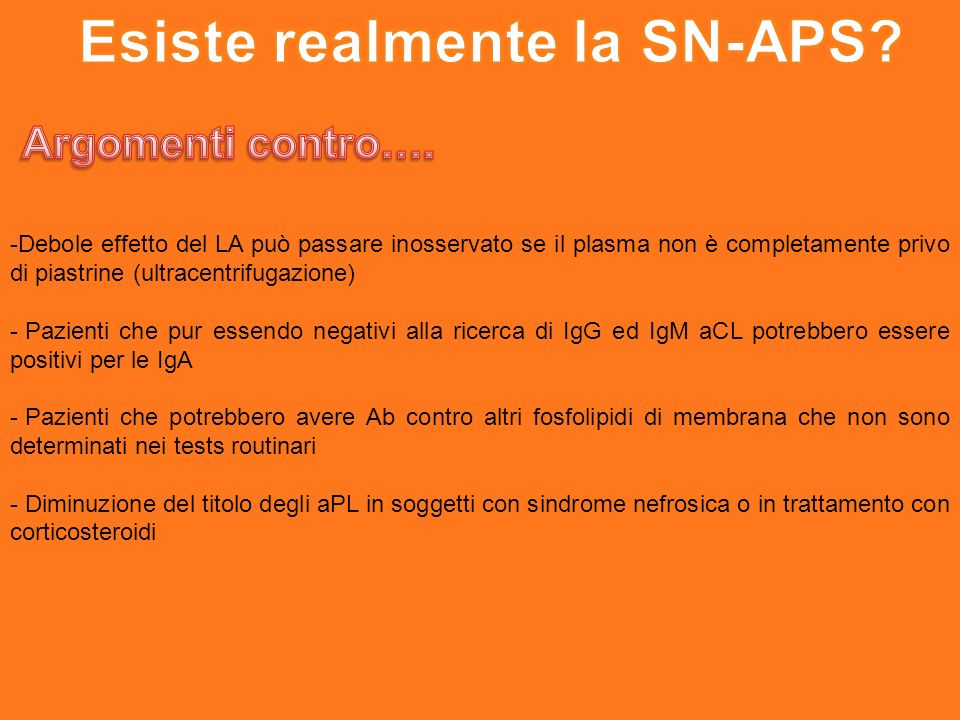 Esiste realmente la SN-APS