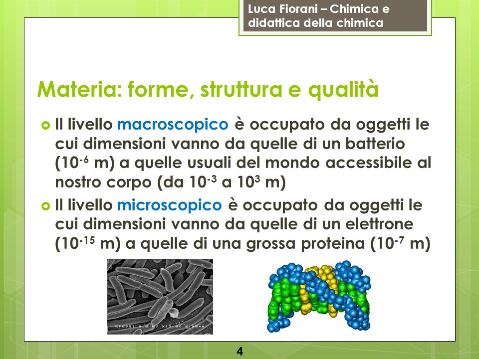 Materia: forme, struttura e qualità