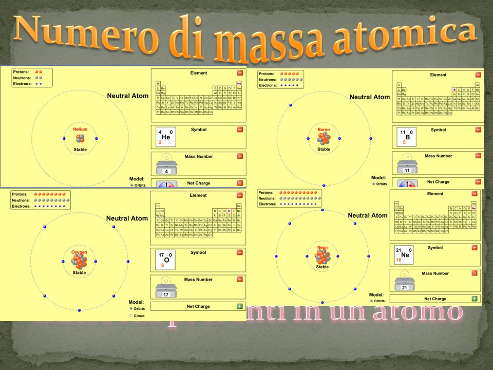 Numero di massa atomica