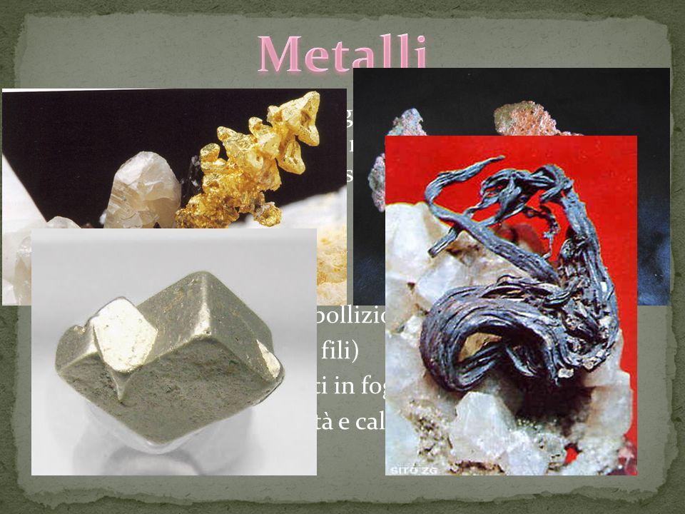 Metalli Nella tavola di Mendeleev gli elementi sono raggruppati in metalli non metalli semimetalli e gas nobili ma cosa li contraddistingue