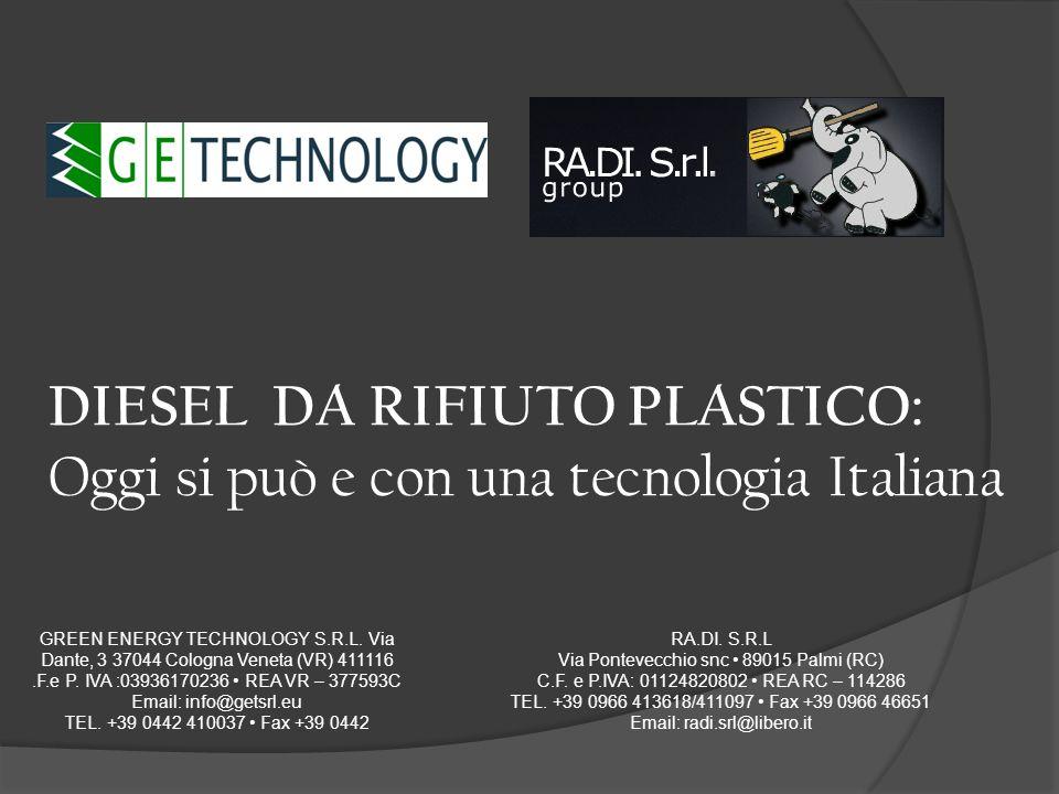 DIESEL DA RIFIUTO PLASTICO: Oggi si può e con una tecnologia Italiana