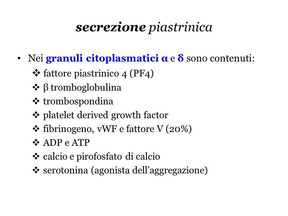 secrezione piastrinica