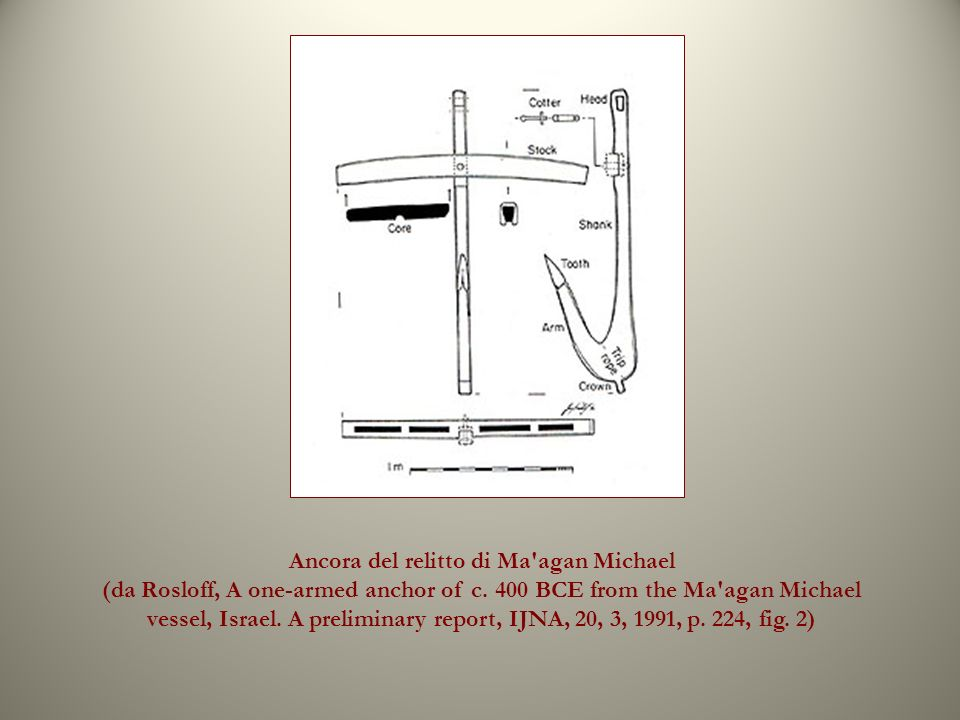 Ancora del relitto di Ma agan Michael (da Rosloff, A one-armed anchor of c.