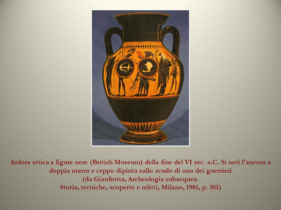 Anfora attica a figure nere (British Museum) della fine del VI sec. a