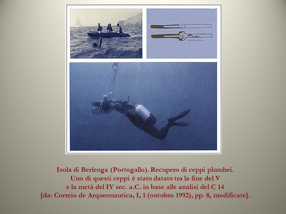 Isola di Berlenga (Portogallo). Recupero di ceppi plumbei