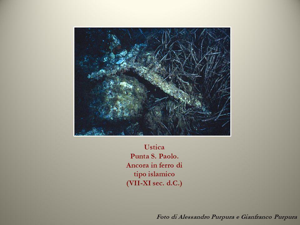 Ustica Punta S. Paolo. Ancora in ferro di tipo islamico (VII-XI sec. d