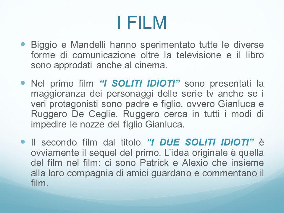 I Film Biggio e Mandelli hanno sperimentato tutte le diverse forme di comunicazione oltre la televisione e il libro sono approdati anche al cinema.