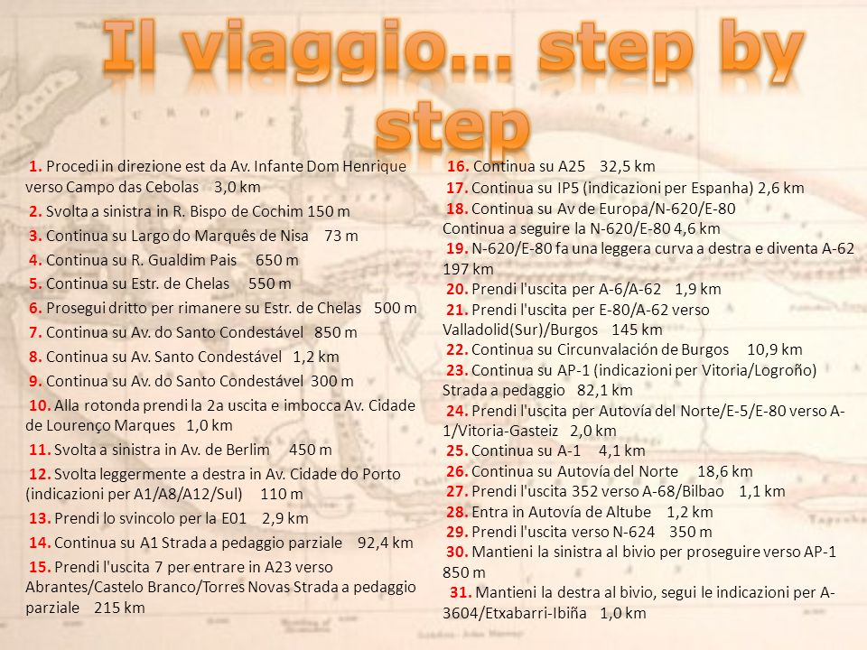 Il viaggio… step by step