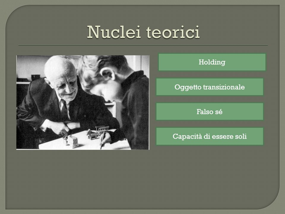 Nuclei teorici Holding Oggetto transizionale Falso sé