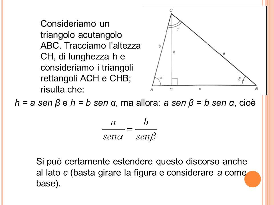 Consideriamo un triangolo acutangolo ABC