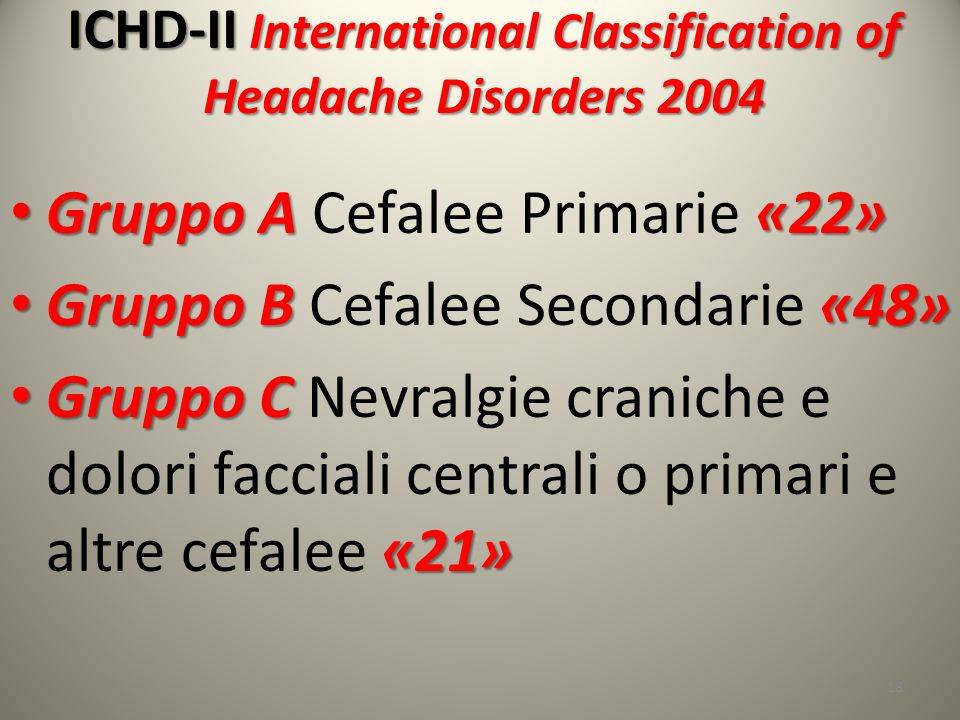 ICHD-II International Classification of Headache Disorders 2004