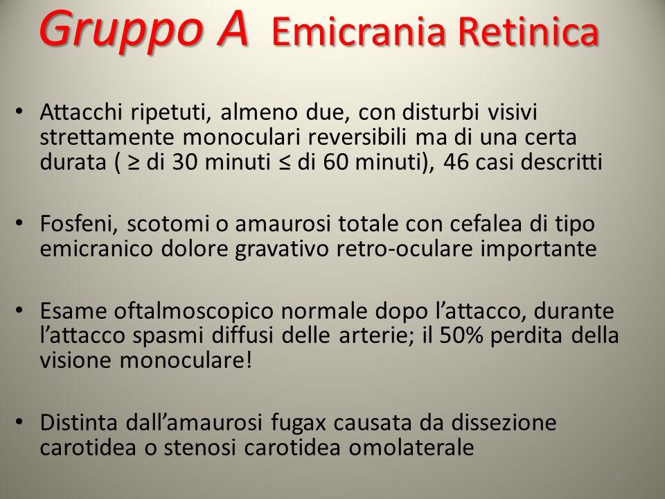 Gruppo A Emicrania Retinica