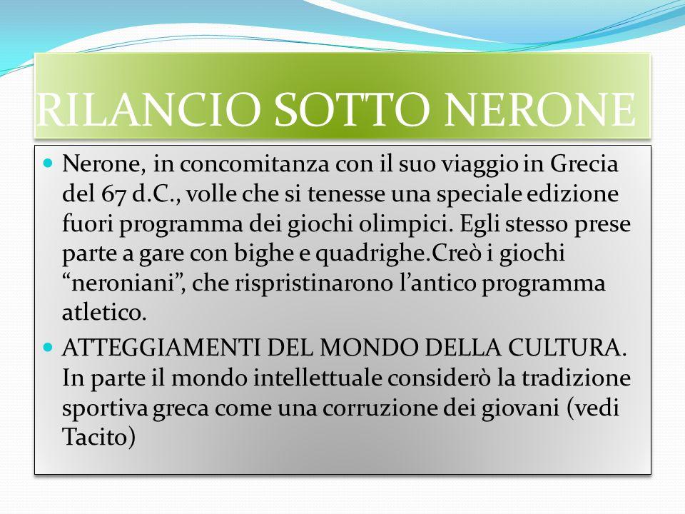 RILANCIO SOTTO NERONE