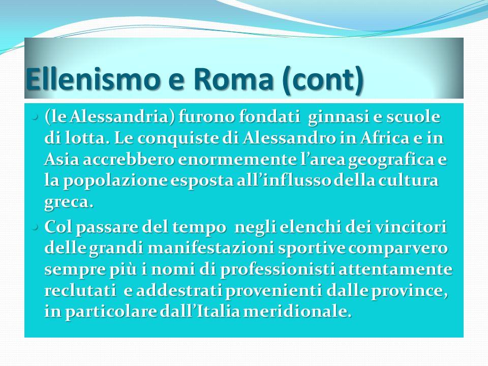 Ellenismo e Roma (cont)