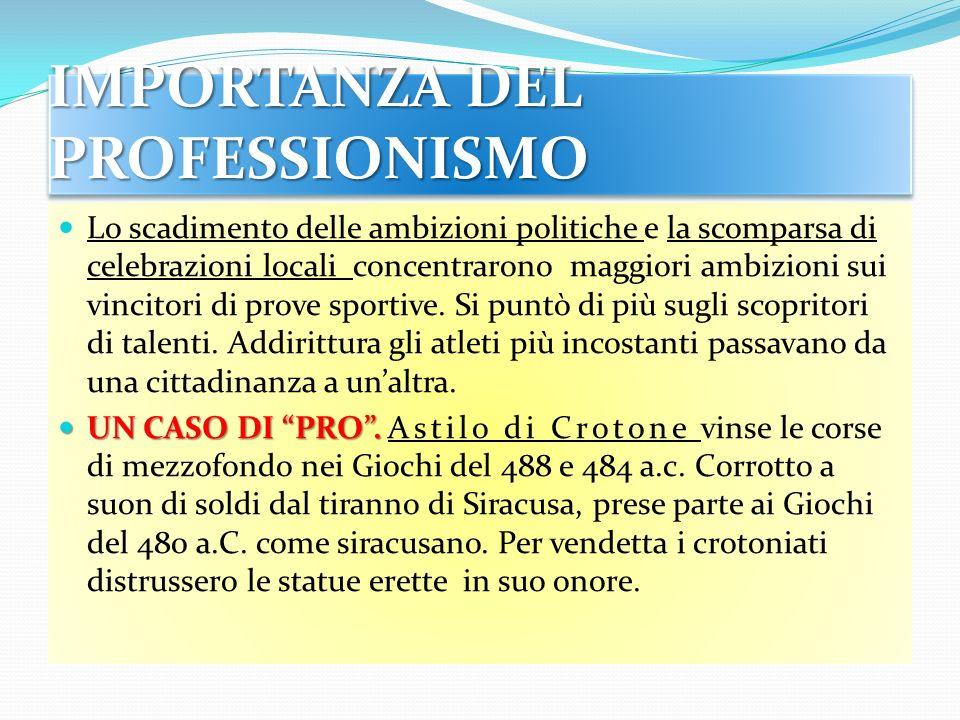 IMPORTANZA DEL PROFESSIONISMO