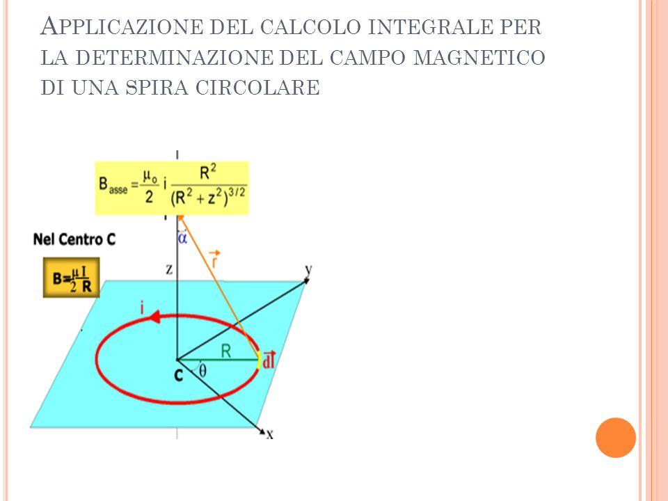 Applicazione del calcolo integrale per la determinazione del campo magnetico di una spira circolare
