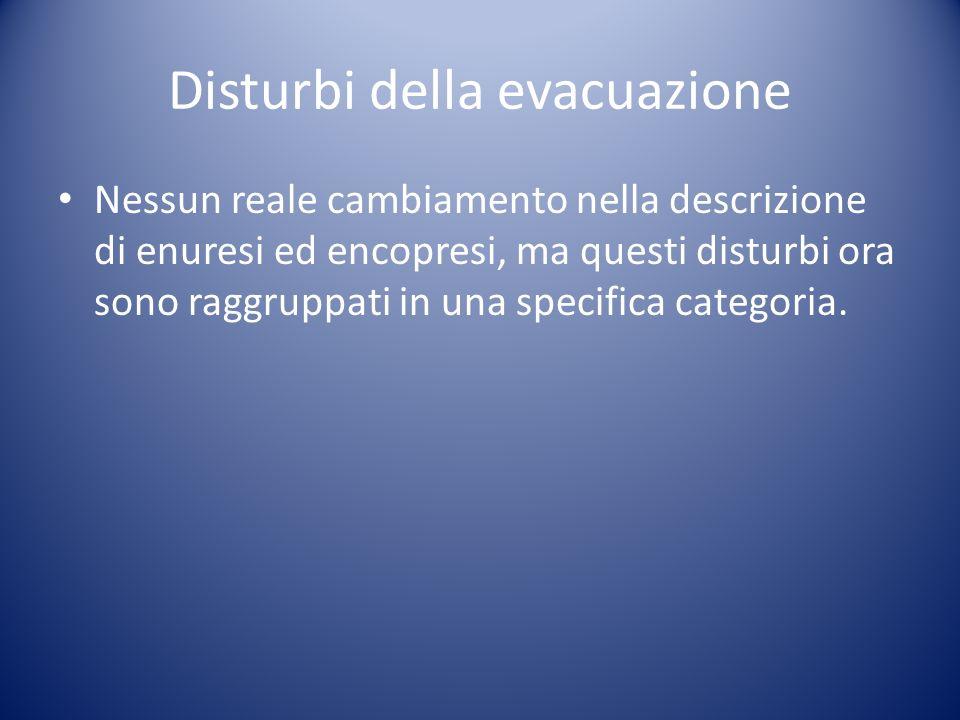 Disturbi della evacuazione