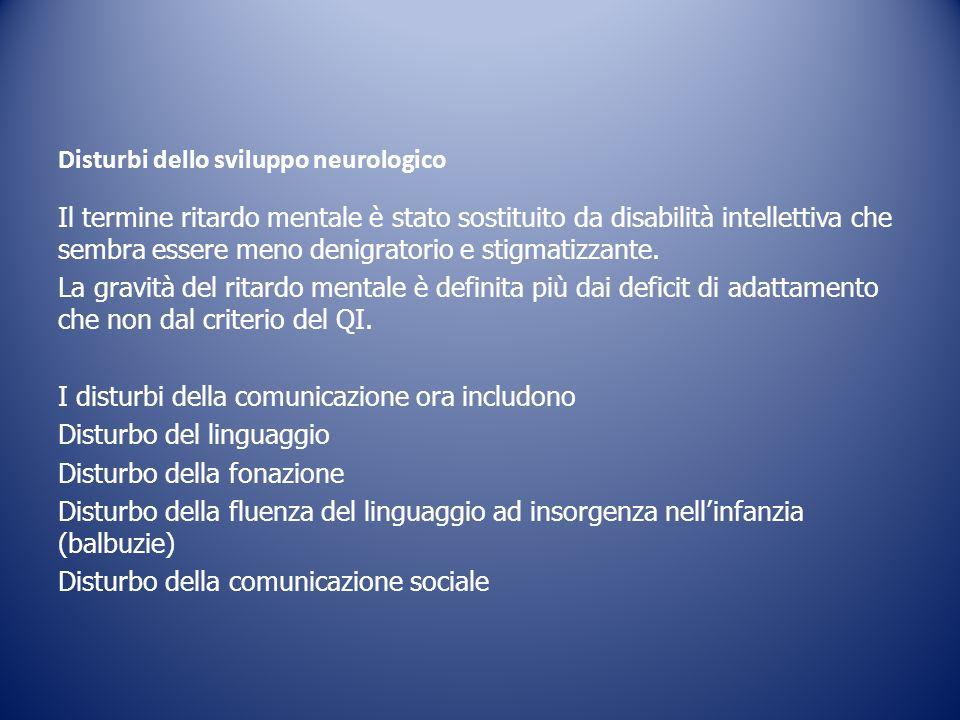Disturbi dello sviluppo neurologico