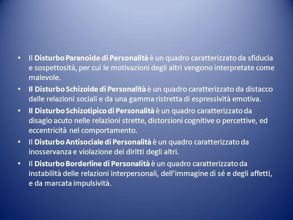 Il Disturbo Paranoide di Personalità è un quadro caratterizzato da sfiducia e sospettosità, per cui le motivazioni degli altri vengono interpretate come malevole.