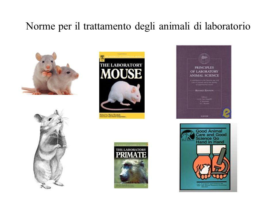 Norme per il trattamento degli animali di laboratorio