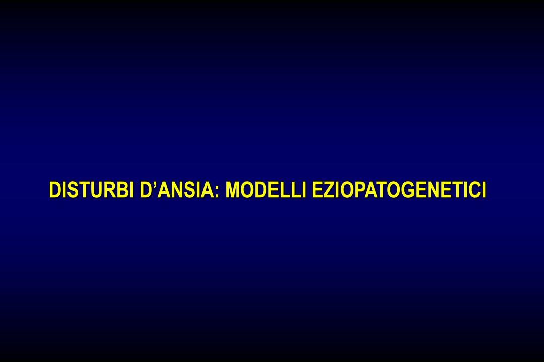 DISTURBI D'ANSIA: MODELLI EZIOPATOGENETICI