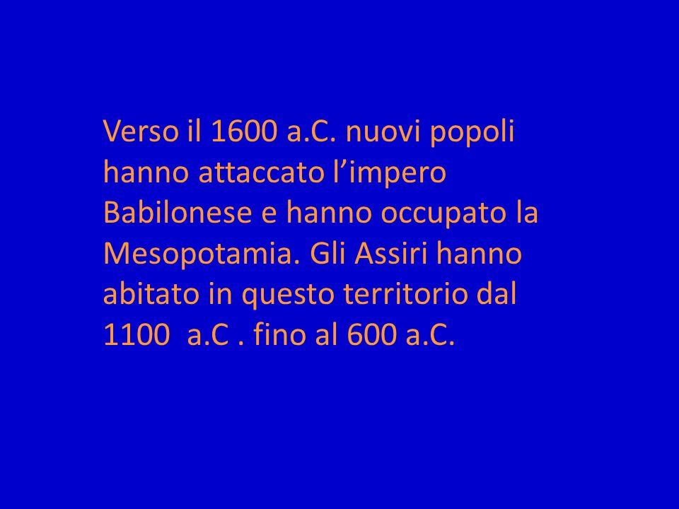 Verso il 1600 a.C.