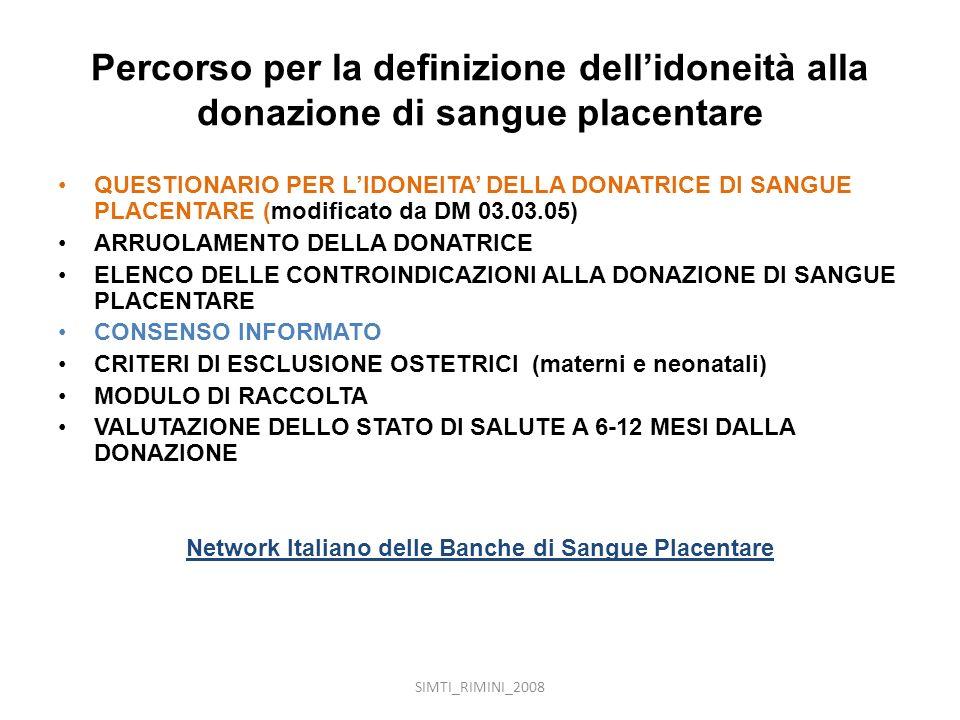 Network Italiano delle Banche di Sangue Placentare