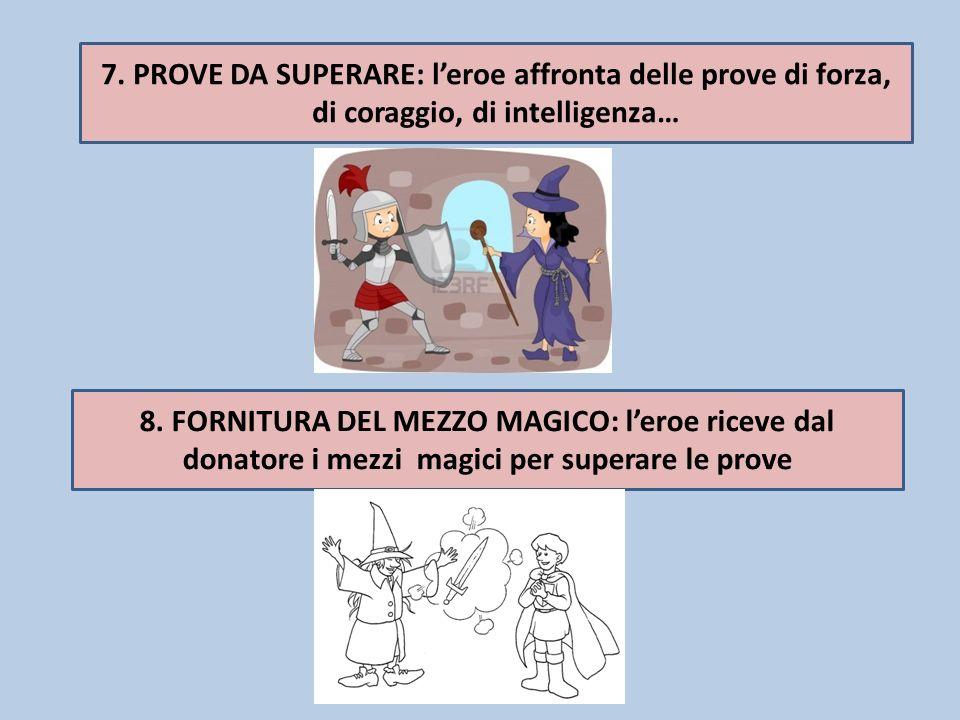 7. PROVE DA SUPERARE: l'eroe affronta delle prove di forza, di coraggio, di intelligenza…