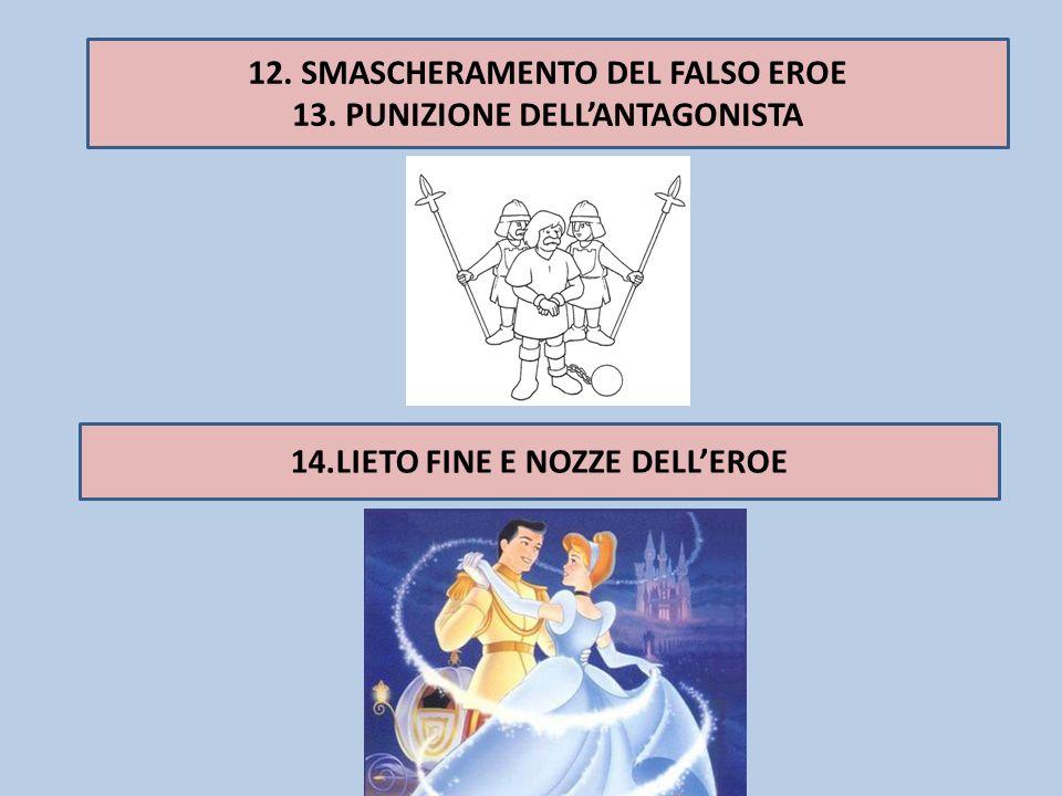 12. SMASCHERAMENTO DEL FALSO EROE 13. PUNIZIONE DELL'ANTAGONISTA
