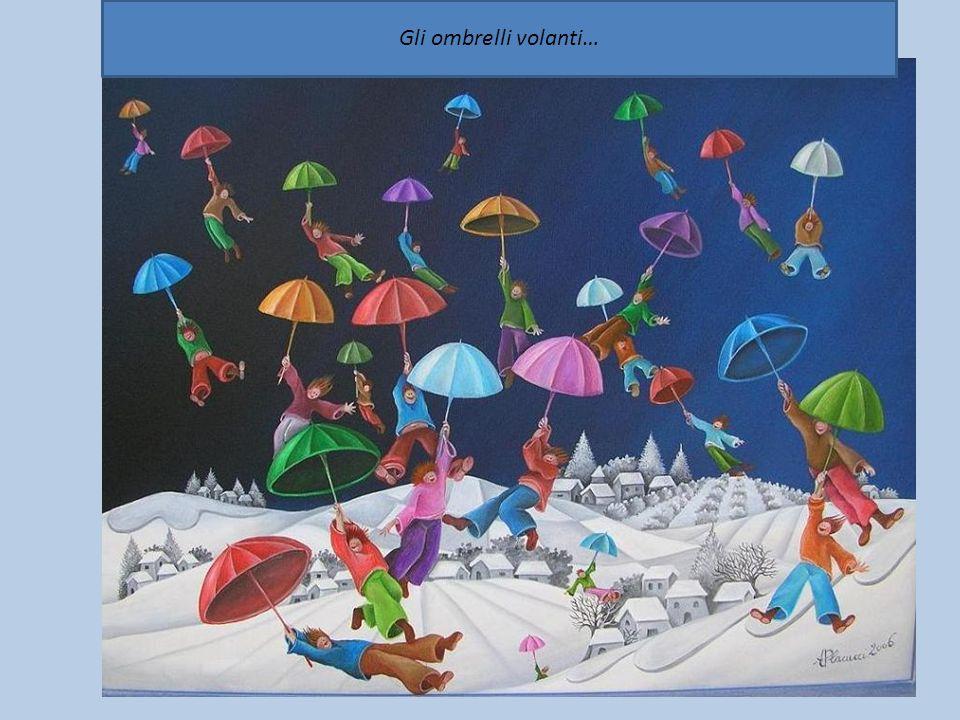 Gli ombrelli volanti…