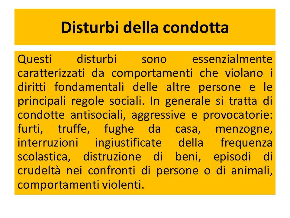 Disturbi della condotta