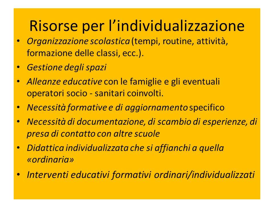 Risorse per l'individualizzazione