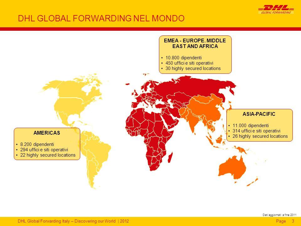DHL GLOBAL FORWARDING NEL MONDO