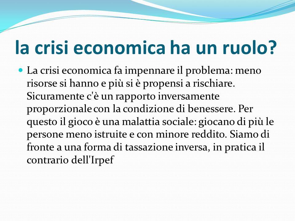 la crisi economica ha un ruolo