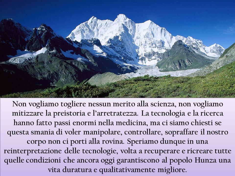 Non vogliamo togliere nessun merito alla scienza, non vogliamo mitizzare la preistoria e l'arretratezza.