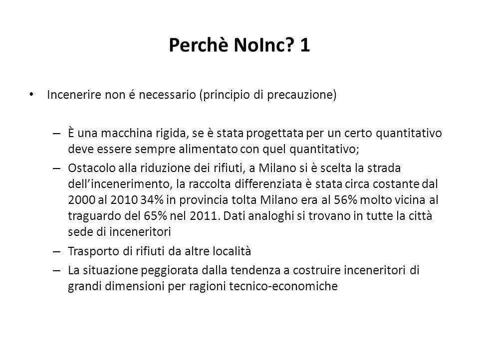 Perchè NoInc 1 Incenerire non é necessario (principio di precauzione)
