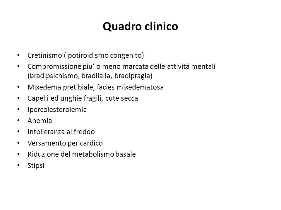 Quadro clinico Cretinismo (ipotiroidismo congenito)