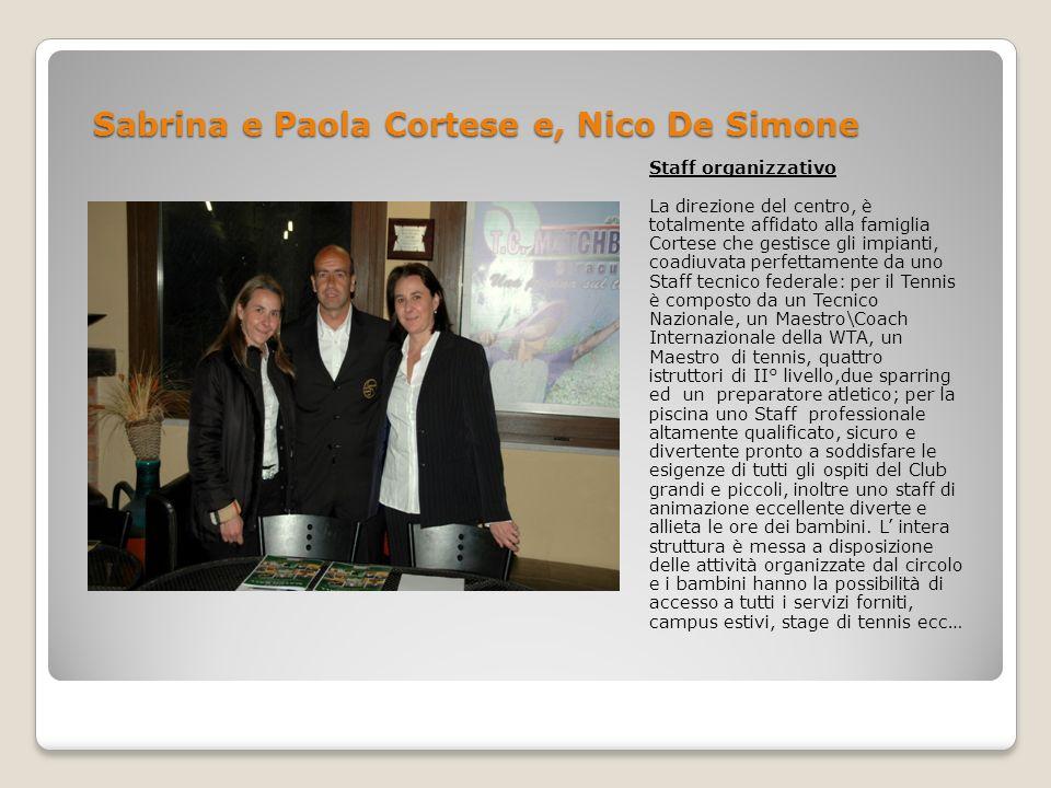 Sabrina e Paola Cortese e, Nico De Simone