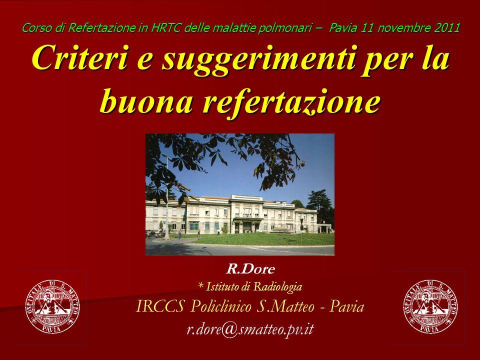 IRCCS Policlinico S.Matteo - Pavia r.dore@smatteo.pv.it